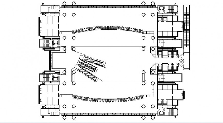 Industrial plant distribution plan cad drawing details dwg file