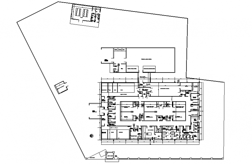 Industrial plant first floor layout plan details dwg file
