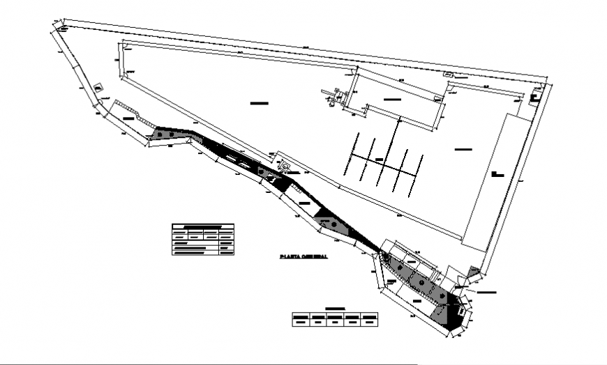 Industrial plant general plan auto-cad details dwg file