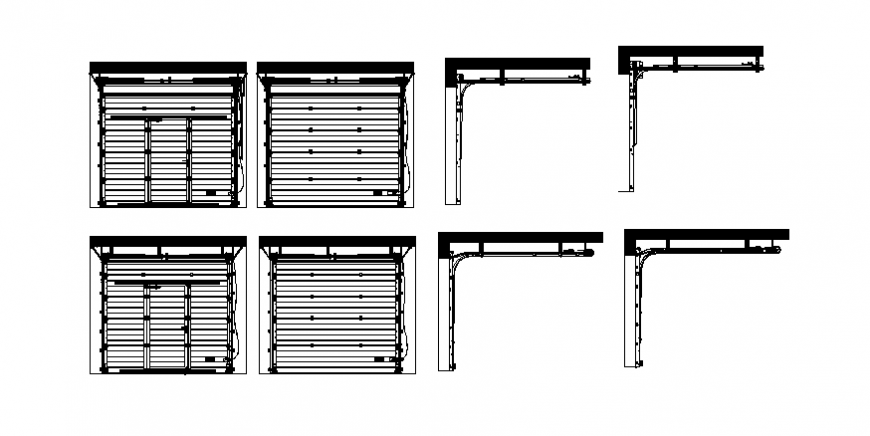 industrial sectional door layout file