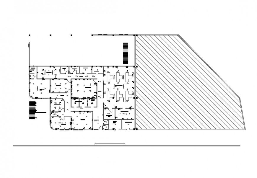 Industrial ware house plan and electrical layout plan details dwg file