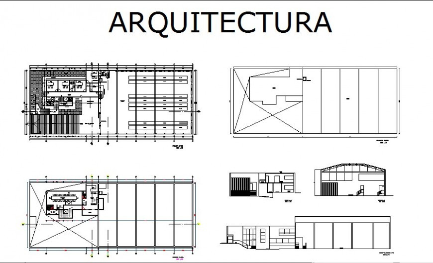 Industry plan and elevation detail drawing in AutoCAD file.
