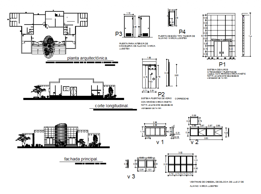 Industry plant details of production of glass packs architecture project dwg file