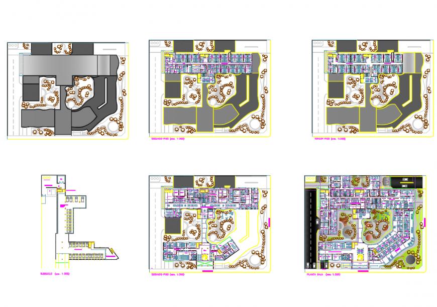 Infantil maternity hospital architecture layout plan details dwg file