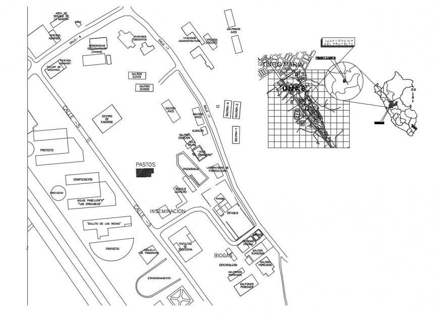 Insemination laboratory layout plan and location map cad drawing details dwg file