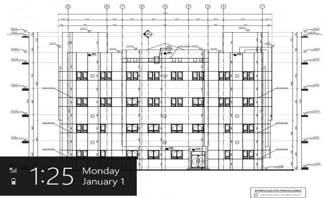 institutional building elevation detail