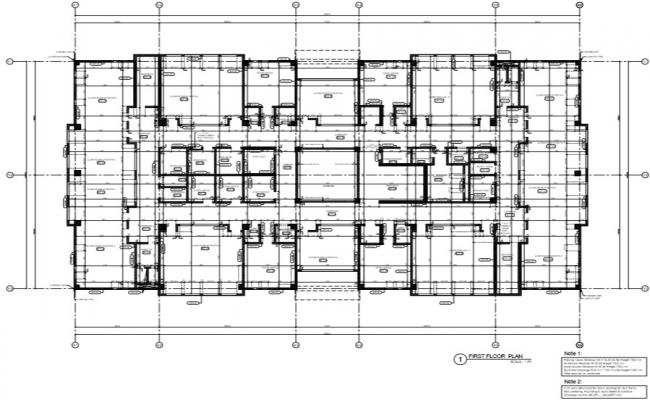 institutional building first floor plan with all detail