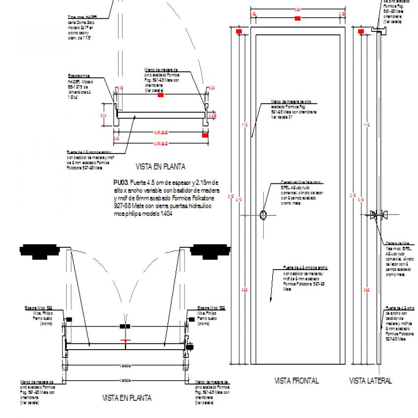 Interior doors framing joinery details dwg file