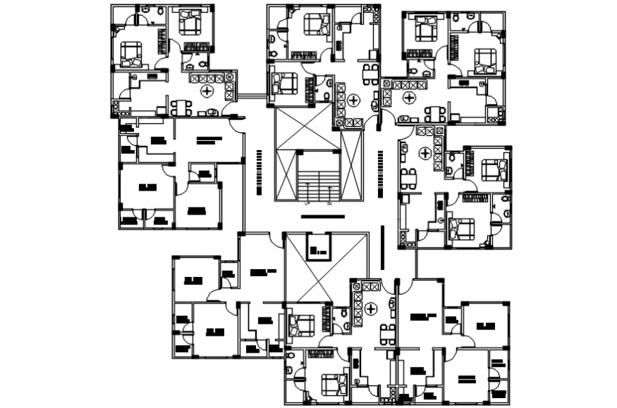 Interior project 2d file top view