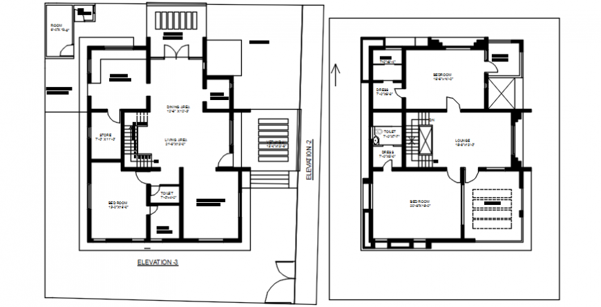 interior project of a house details file