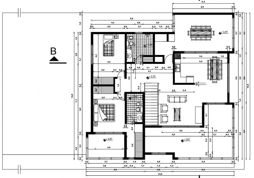 interior project of a house view plan