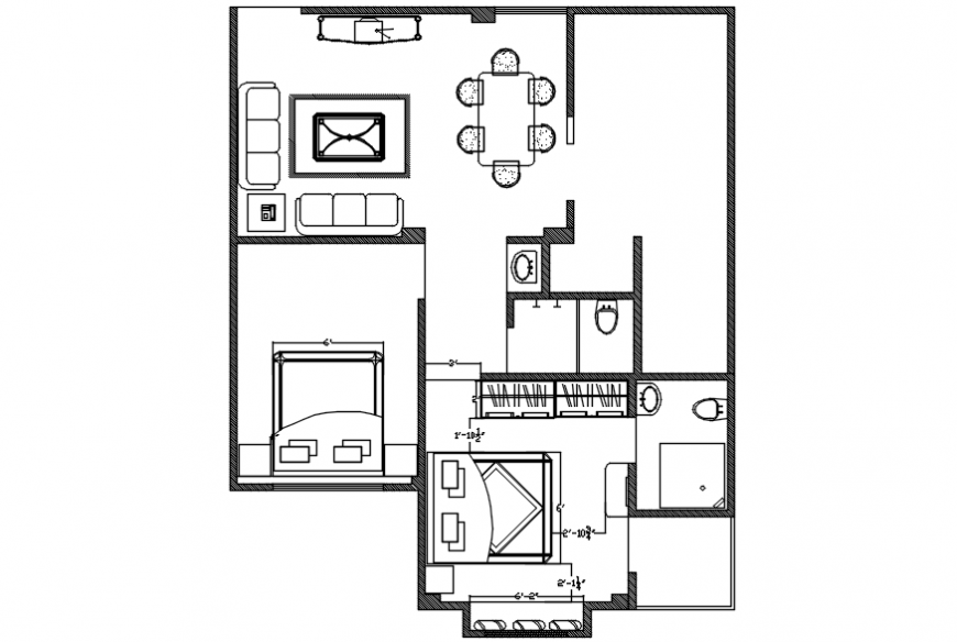 Interior project of house plan
