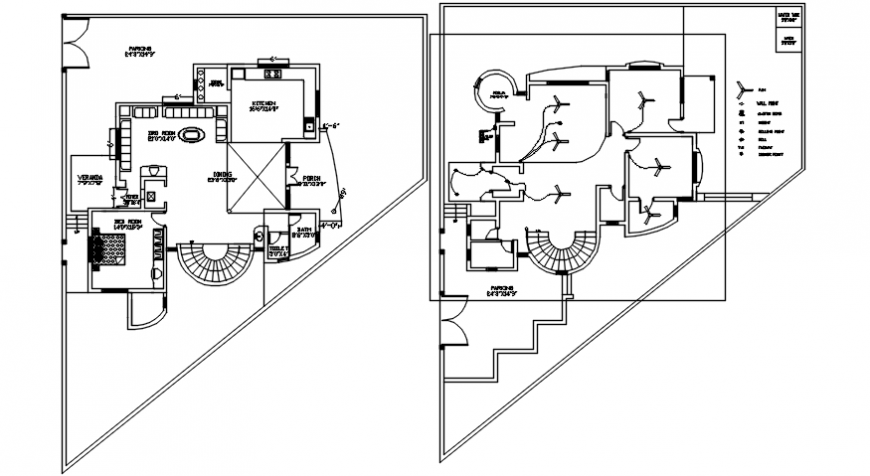 interior project top view and electric layout