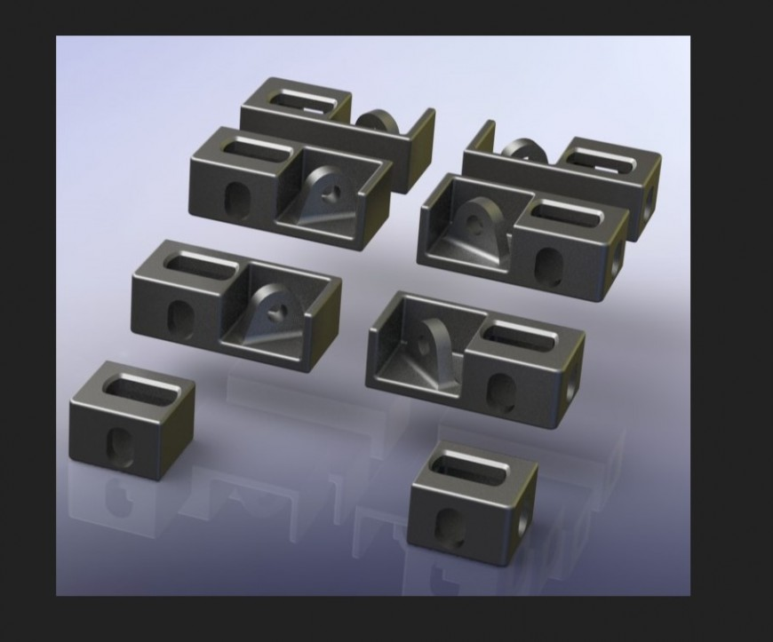 Iso dual corner 3 D blocks
