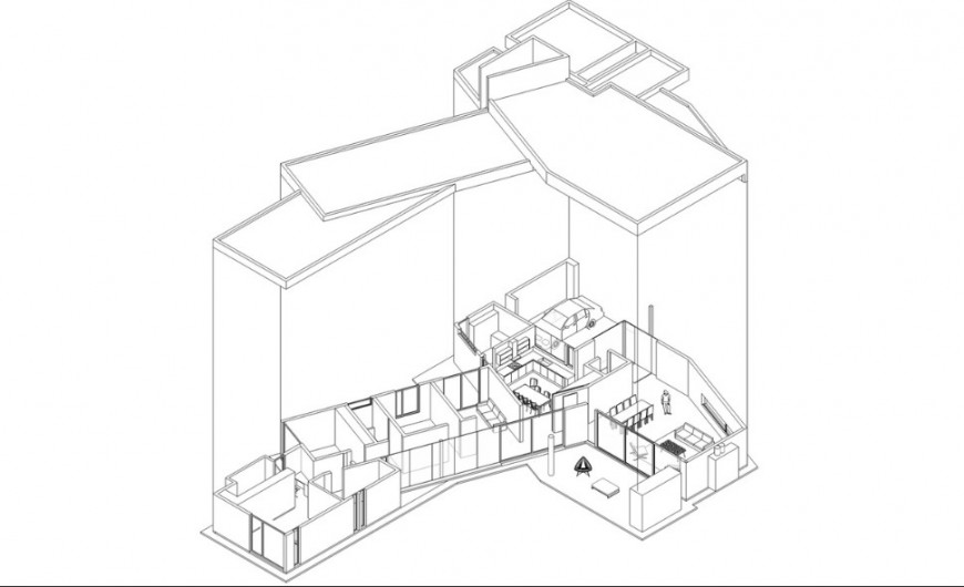 Isometric model drawing details of residential house jpg file