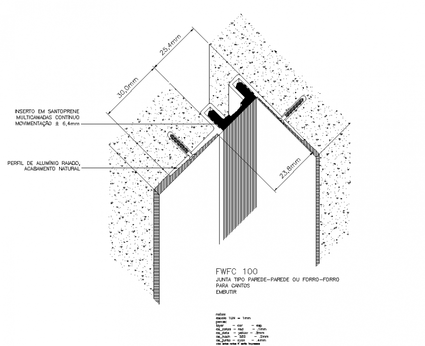 Isometric of expansion joint layout file
