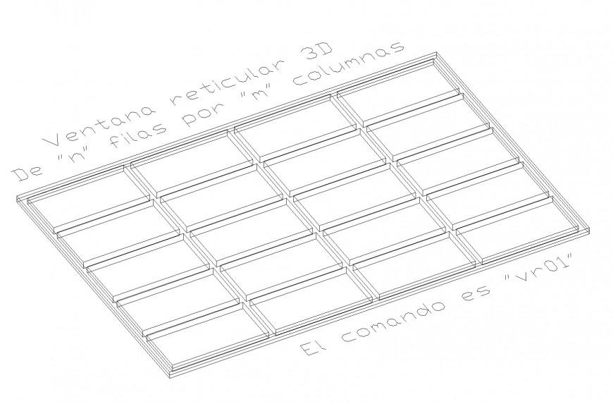 Isometric slab plan autocad file