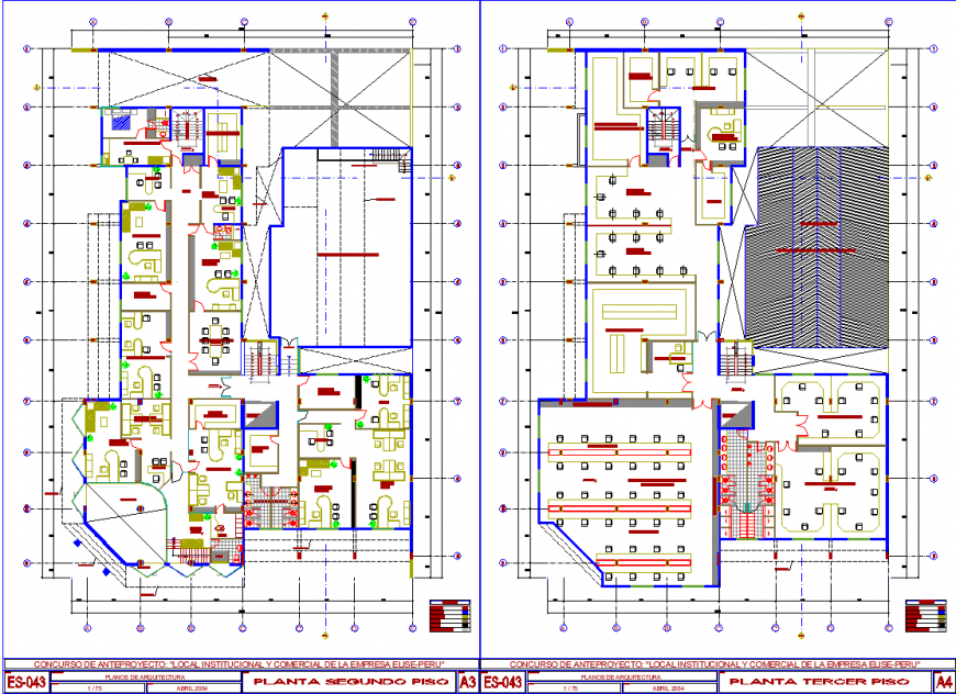 IT office layout plan drawing in dwg AutoCAD file.