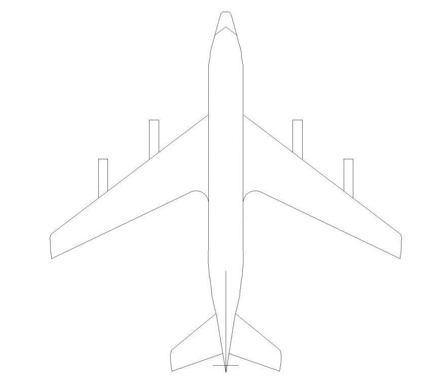 Jet air plan detail dwg file