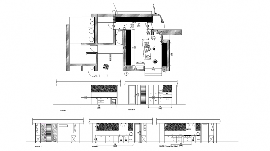 Jeweller shop detail drawing in dwg AutoCAD file.