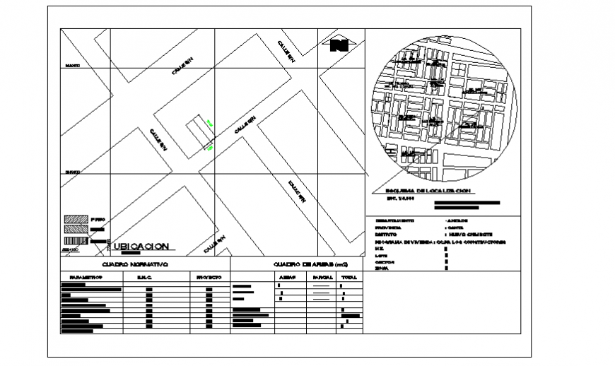Key plan, location layout design drawing of single family house design drawing