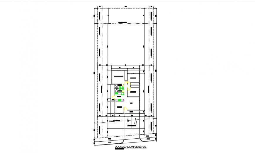 Key plan layout of preliminary housing design drawing