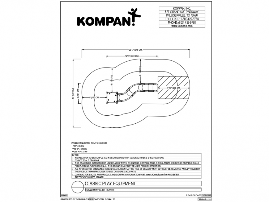 Kids play classical component cad drawing dwg file
