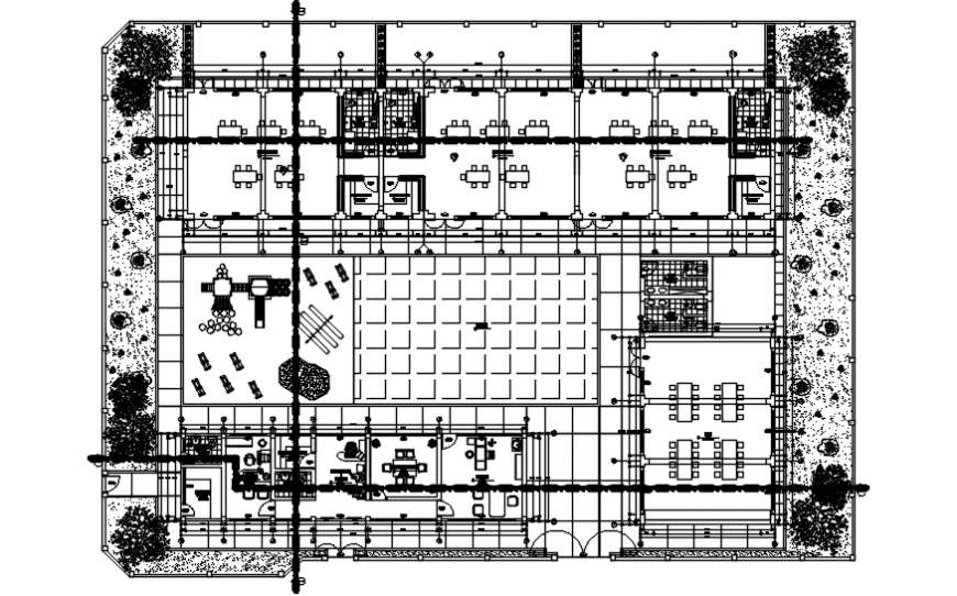Kinder garden school distribution plan cad drawing details dwg file