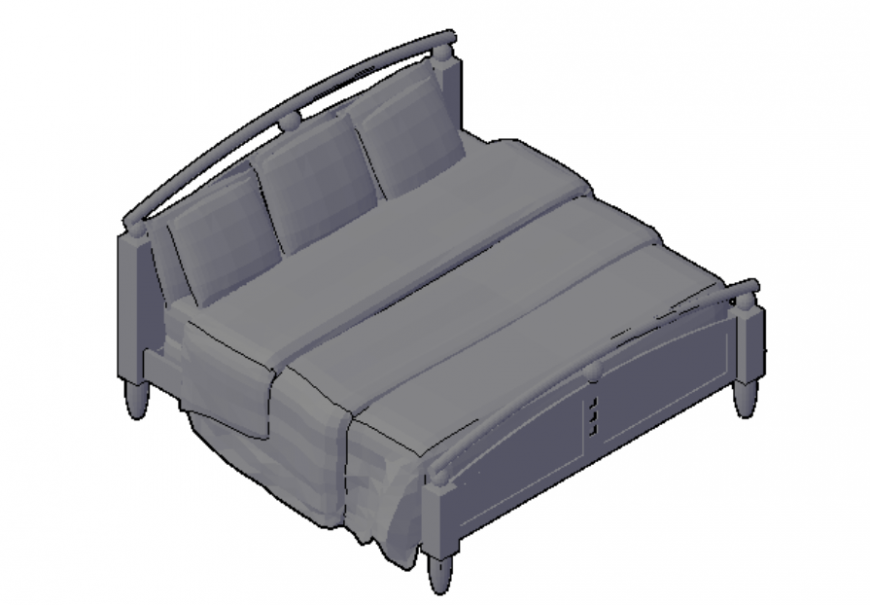 King size bed 2d