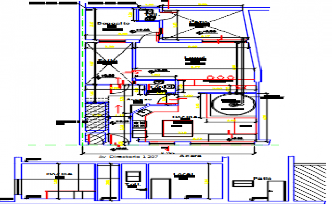 kitchen design dwg file