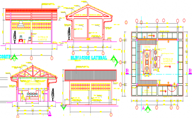 Open Floor Plan Living Room Kitchen Autocad Dwg Full Size Of Kitchengorgeous Kitchen Elevation