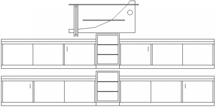 Kitchen cad blocks detailing 2d