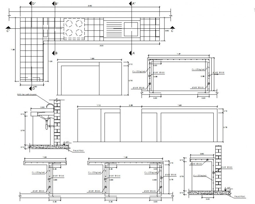 Kitchen drawing detail cad file