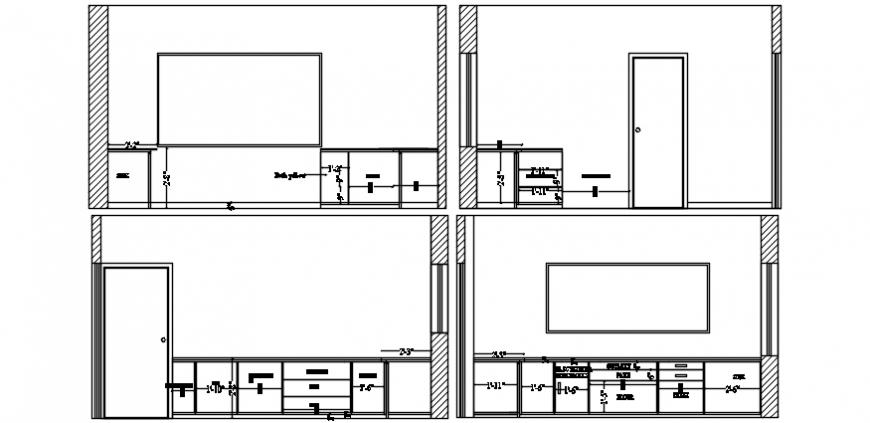 kitchen elevation design cad file