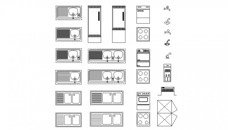 Kitchen equipment plan autocad file
