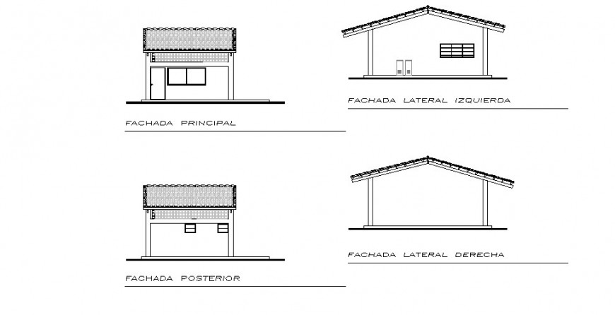 Kitchen main and back elevation and section cad drawing details dwg file