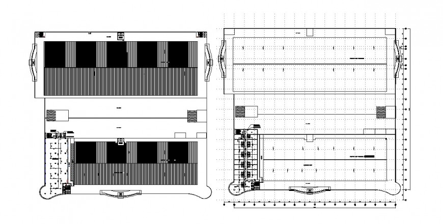 Kitchen of restaurant elevation and plan cad drawing details dwg file