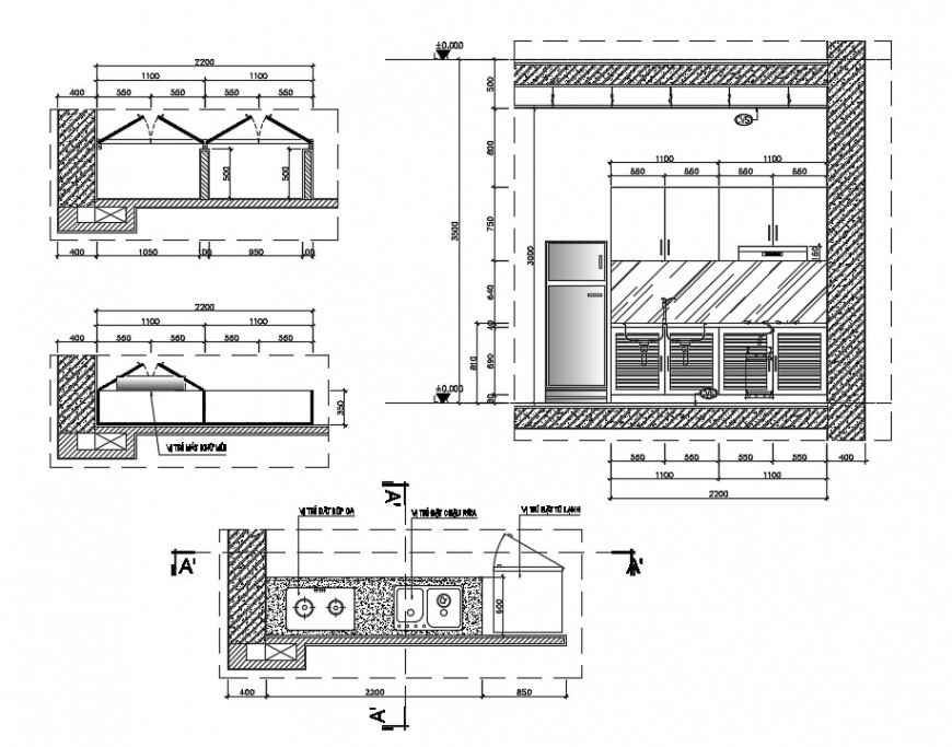kitchen project detail cad file