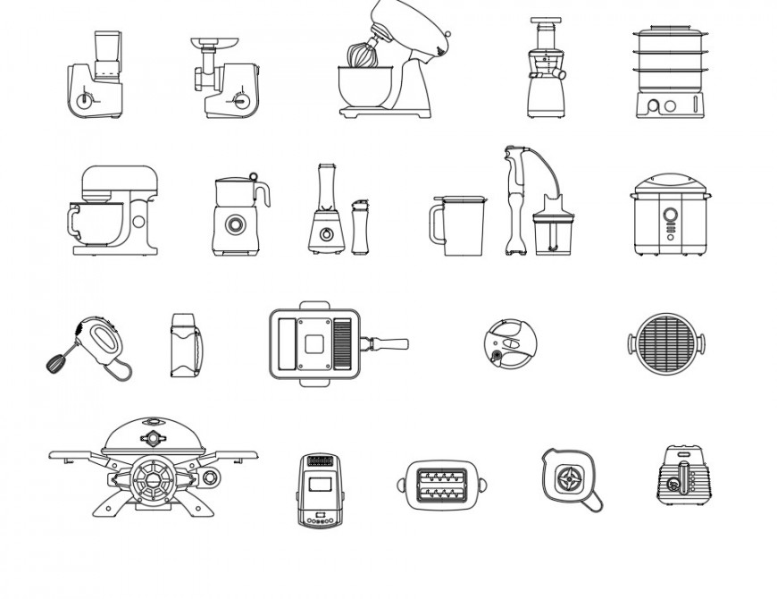 Kitchen small appliances plan