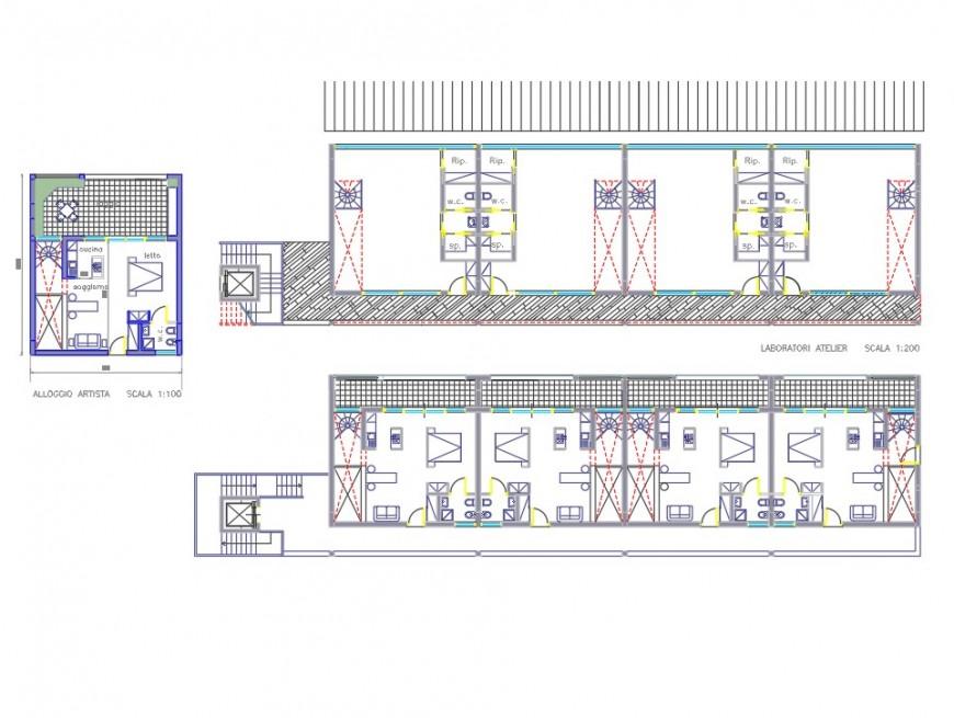 Lab atelier residence plan