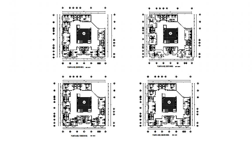 Lab college commercial building plan autocad file