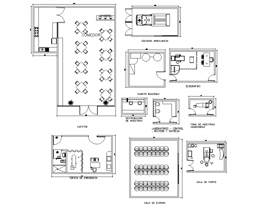 Laboratory recpion and delivery planning autocad file