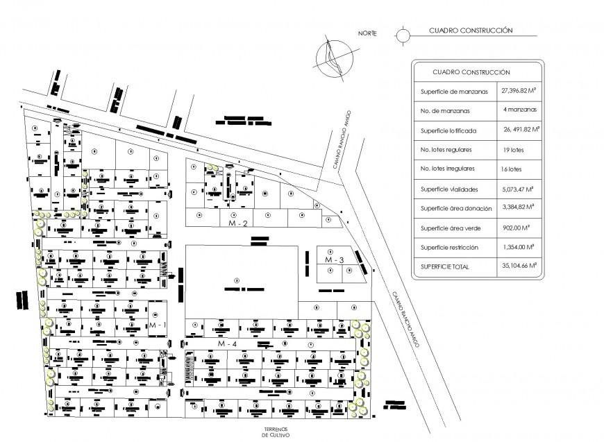 Land sub division sheet detail dwg file
