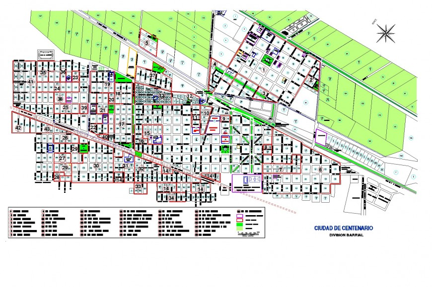 Landscaping commercial building plan autoacd file