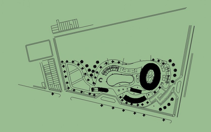 Landscaping detail drawing in AutoCAD file.