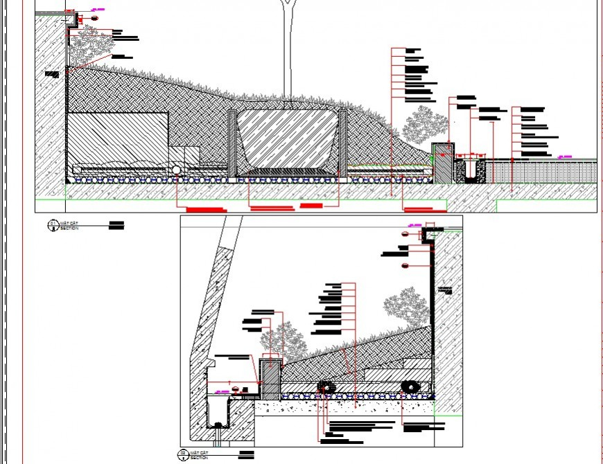 Landscaping detail drawing in dwg AutoCAD file.