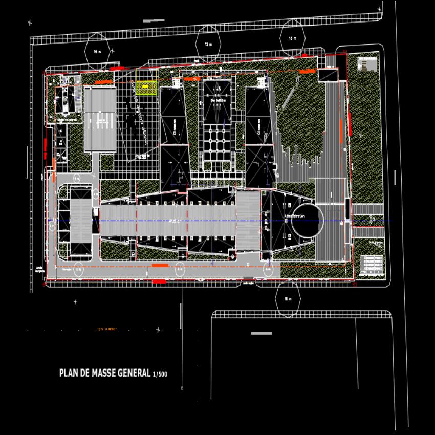 Landscaping Flying school plot layout file