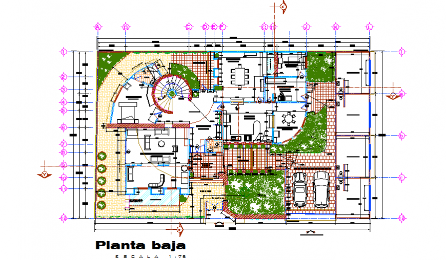 Landscaping Layout design drawing of Farm house design drawing