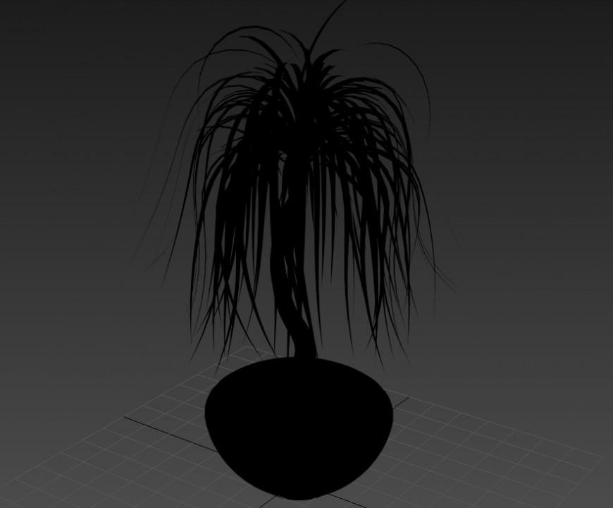 Landscaping plants detail 3d model layout 3d max file