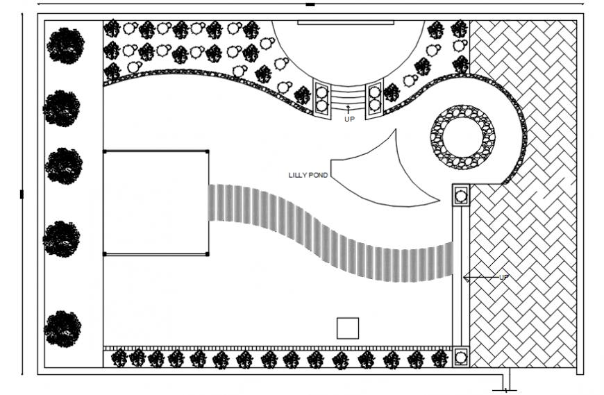 Landscaping top view plan